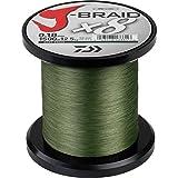 Daiwa J-Braid 8 Braid 0.56mm, 65.0kg / 143.0lbs, 1500m dunkelgrün, rund geflochtene Angelschnur