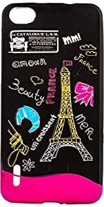 Purple Eyes Generic Night Glow Back Case Cover For Huawei Honor 6 France (Multi-coloured)