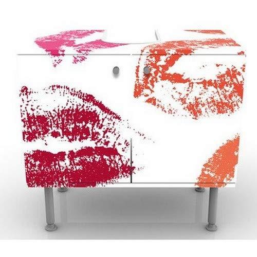 Baignoire Armoire de lavabo Table de lavabo Petit Armoire de Salle Bains lavabo r/églable Meuble sous Vasque Design 4 Seasons 60x55x35cm Meuble Bas 60 cm de Large Salle de Bains