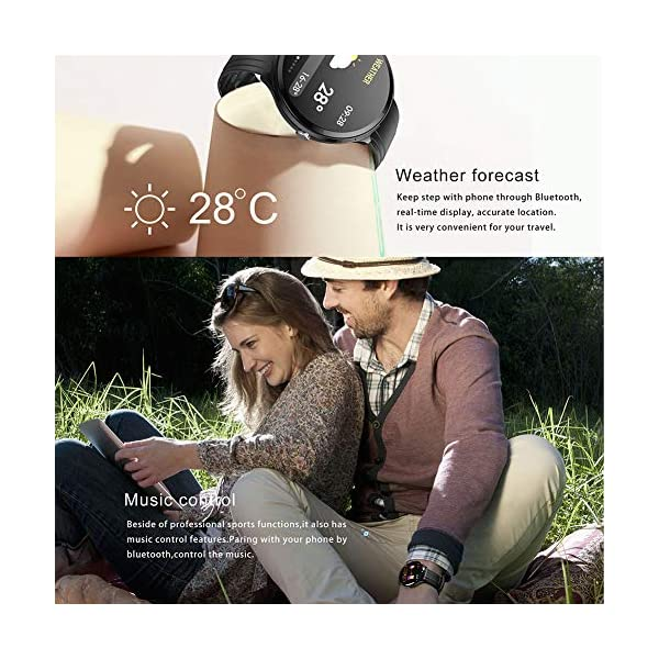 FUPOJW Waterproof IP67 Smart Watch Fitness Activity Tracker with Heart Rate Blood Pressure Monitor Calorie Smartwatch… 4