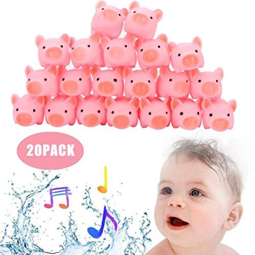 cherheit Vinyl Spielzeug Beißring Gummi Schwein Baby Bad Dusche Spielzeug Für Kinder ()