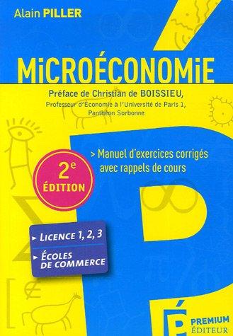 Microéconomie : Manuel d'exercices ...