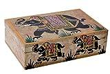 Hashcart Joyero Decorativo Natural Mármol Elefante marquetería decoración Multi Utilidad Caja de almacenaje