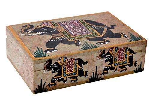 Schmuck Box Deko Natur Marmor Elefant Einlegearbeiten Décor Multi Utility Aufbewahrungsbox von hashcart