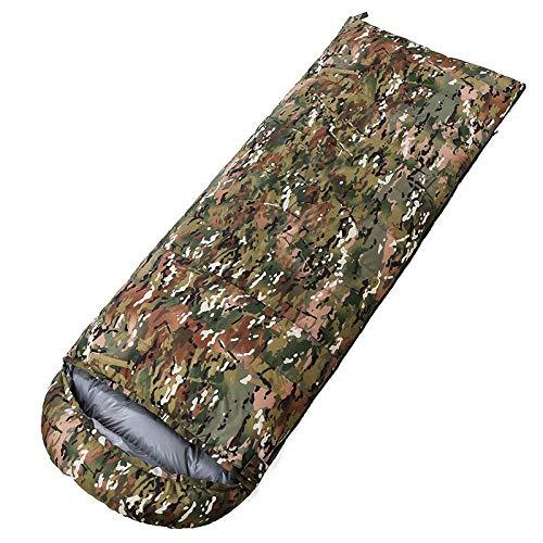 TAHRH daunenschlafsack Ultraleicht,Outdoor-Ultra-Light-Camouflage-Schlafsack, kann genäht Werden, Erwachsenen Klettern Campingausrüstung @ SN4_1800g_White_Goose_down -