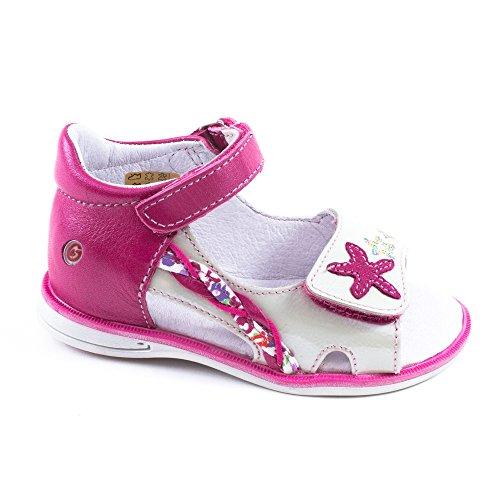 GBB Inna, Chaussures basses à scratch bébé fille Rose