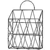 LVPY Porte Revues Mural, en Suspension étagère Simple Salon Journal Panier Porte-revues Panier de Rangement boîtes Rangement, Nior