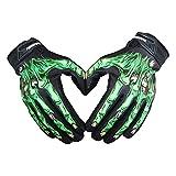 UniEco Radfahren Fahrrad Motorrad Touchscreen Skelett Handschuhe Outdoor Sport Winter Warme Skidproof Dauerhaft Winterhandschuhe für Fahrrad Motorrad Moto-Cross Größe M/L/XL Farbe Grün/Weiß