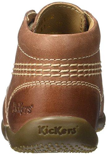 Kickers Billy, Chaussures Premiers pas bébé garçon Marron (Camel)
