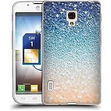 Ufficiale Monika Strigel Glamour notte dorata Glitter Cover Morbida In Gel Per LG Optimus L7 II Dual P715