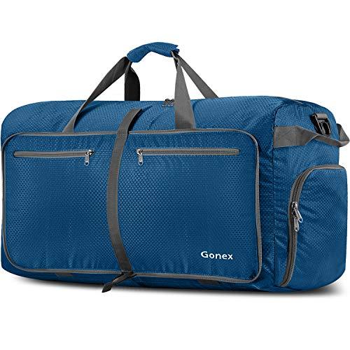 are Reise-Gepäck 150L Duffel Taschen Übernachtung Taschen/Sporttasche für Reisen Sport Gym Urlaub (Dunkelblau, 150L) ()