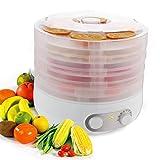 Dörrautomat mit Temperaturregler,Oliote Dörrgerät für Lebensmittel, Obst- Fleisch- Früchte-Trockner, Dehydrator, BPA-frei, 5 Etagen, 500W