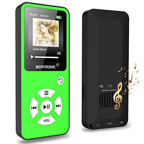 BERTRONIC Made in Germany BC01 Royal MP3-Player ★ Bis 100 Stunden Wiedergabe ★ Farbdisplay ★ Radio | Portabler Player mit Lautsprecher | Audio-Player für Sport mit Micro SD-Kartenslot - Mit Shuffle Mp3-player