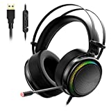 Gaming Headset ps4 headset Virtual 7.1,USB Interface Gaming Headphones for ps4,nintendo switch,Computer,Laptop