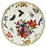 V&A - Victoria and Albert Museum Pink Butterfly Painted Tin Enamel Plate - Picnic or Camping