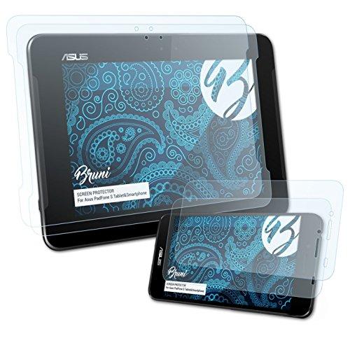 Bruni Schutzfolie kompatibel mit Asus PadFone S TabletundSmartphone/PadFone X (US) Folie, glasklare Bildschirmschutzfolie (2er Set)