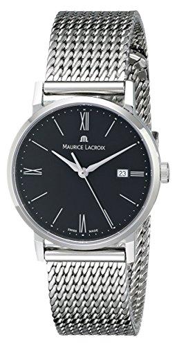 Maurice Lacroix Eliros Date Ladies Quartz Uhr, Schwarz, 30mm., Stahlband