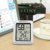 ThermoPro TP50NEW LCD Digital Thermo-Hygrometer, Indoor Weather Thermometer Hygrometer Gauge, Monitor Temperature and Humidity Meter for Home Office Comfort, Min/Max Records
