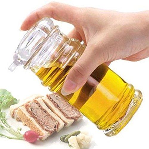 Ölspender-Flasche, transparent, Acryl, Sojasauce, Essig, Olivenöl, Grillspender, Shaker, Home Kitchen Kochen Werkzeug für Kochen, Behälter Ausgießer Öl, Siehe Abbildung, 150ml