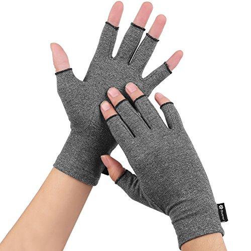 Anti-Arthritis Handschuhe(Paar) Frauen Männer für RSI, Karpaltunnel, Rheumatio, Sehnenscheidenentzündung, Fingerlose Hand Daumen...