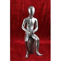 HeuSa Tech Window mannequin Child Shining Silver