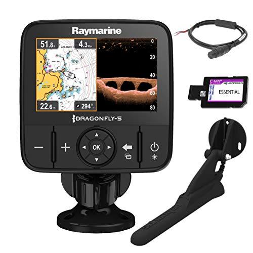 Raymarine E70293-CEUR Dragonfly-5Pro Sonar/GPS (12,7 cm (5 Zoll), integrierte Chirp Down Vision, CPT-DVS, WiFi, EU-CMAP Essentials Kartografie) Raymarine Marine Electronics