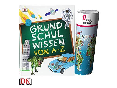 Unbekannt Grundschulwissen von A-Z (Gebundenes Buch) + gratis Kinder Weltkarte