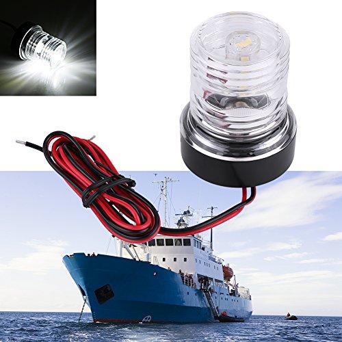 Qiilu 12V Marine barco travesa/ño blanco LED de acero inoxidable impermeable ancla popa luz de navegaci/ón