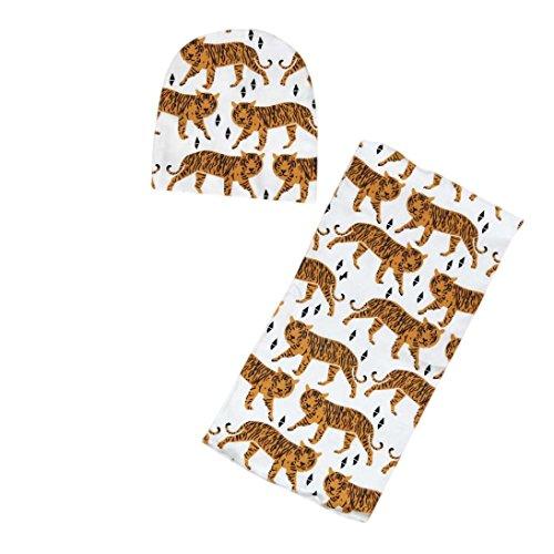 Kinder Hut Schal Kolylong® 2 PC / 1 Set Unisex Baby-Kleinkind Karikatur-Muster gedruckt Beanie Mütze Und Nackenwärmer Schal (Für 0-3 Jahre alte Kinder) (Kostüme Ihre Sexy Und Sein)