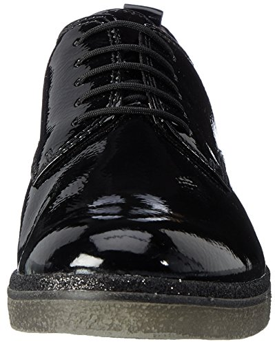 Tamaris 23710, Scarpe Stringate Oxford Donna Nero (Black)