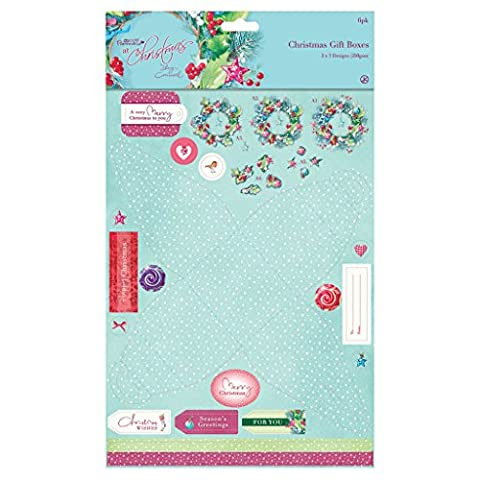 Lucy Cromwell At Christmas Die-Cut Favour + Gift Box x6 (Docrafts Craft Set)