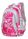 SellerFun® Kid Child Girl Flower Printed Waterproof Backpack School Bag(Rose,Large)