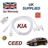 AMSAMOTION Hyundai Kia AUX USB Cable lead adapter iPod NANO Touch ipad iPhone 2 3 4 4S