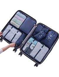 Belsmi 8 Set Voyage Organisateur - 4 Cubes De Voyage + 3 Poches + 1 Chaussures Premium Sac
