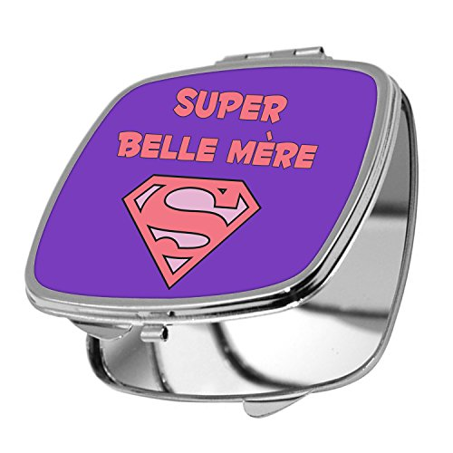 Yonacrea - Miroir de Poche - Super Belle Mère - Violet