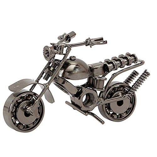 Knowing Eisen Motorrad Modell,kreative Handwerk Geschenk,Retro Motorräder Modell,Harley Motorrad Modell,Für Home Office Dekoration, Freund Fotografie Requisiten,, Silber