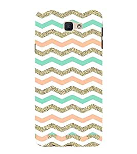 Zig Jag Pattern, Multicolor, Gig Jag, fantastic pattern, Printed Designer Back Case Cover for Samsung Galaxy J7 Prime (2016)