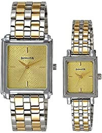 Sonata Analog Champagne Dial  Couple's Watch - 70538080BM01