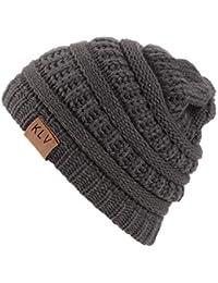 Gorro de Punto Niño Invierno Color Sólido para Niño Beanie Hat Sombrero  Gorra de Esqui… 220a3814976