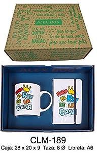 REGALO- Conjunto libreta y Taza mug con Mensaje,para el Rey de la Sets de Material Escolar (RM 1)