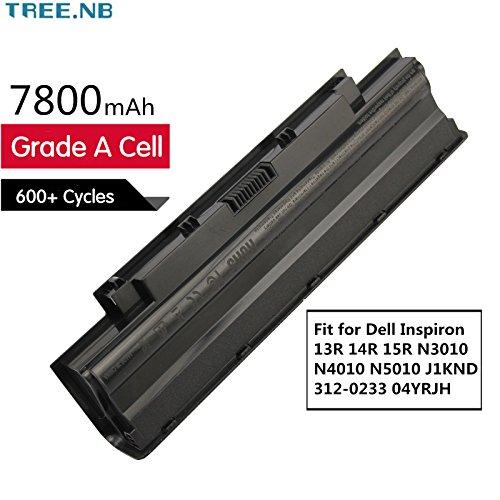 Tree.NB J1KND Notebook Laptop Batterie Li-ion Akku für Dell Inspiron 13R 14R 15R 3010 N3010 N4010 N5010 312-0233 04YRJH FMHC10 TKV2V YXVK2 J4XDH 9TCXN 9T48V 965Y7 4T7JN 312-0234 383CW 7800mAh