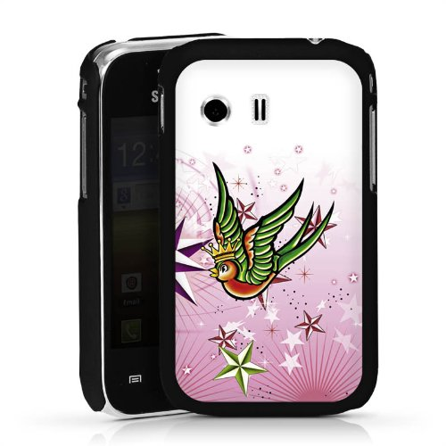 Samsung Galaxy Y Young S5363 Case Hülle Cover Schutzhülle HardCase black - Wedding-Swallows