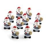 10 kleine MINI Weihnachtsmann rot grau weiß NIKOLAUS SANTA CLAUS 3,5 cm Miniatur Figur give-away Kunden-Geschenk Werbeartikel Weihnachten Weihnacht-Deko Geschenk