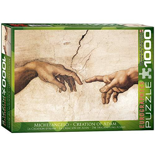 EuroGraphics Puzzle Die Erschaffung Adams (Detail) von Michelangelo