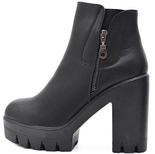 Vain Secrets Chelsea Trend Boots Plateau Stiefelette (37) (Fetisch Ankle Boots)
