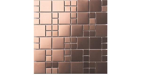 Mq in acciaio inox spazzolato mosaico muro di piastrelle fogli