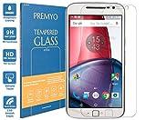 PREMYO Panzerglas Schutzglas Bildschirmschutzfolie Folie kompatibel für Motorola Moto G4 Plus Blasenfrei HD-Klar 9H 2,5D Gegen Kratzer Fingerabdrücke