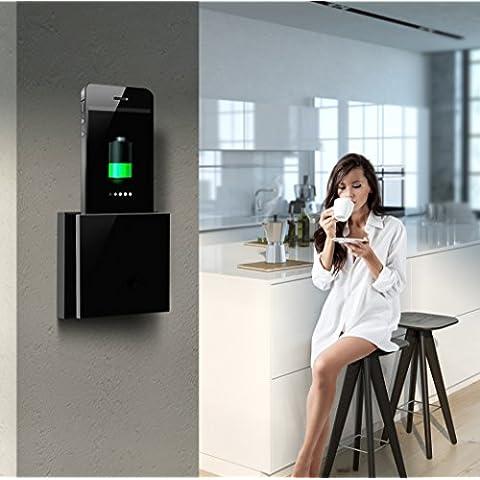 CMoDE - Alimentatore uniDock in alluminio anodizzato, universale, per smartphone, nero