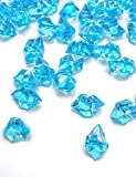 DomeStar 150 PCS Acrylic Clear Ice Rock Cubes, Crystals Treasure Gems, Blue by DomeStar