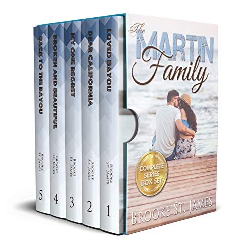 Martin Family Complete Box Set: All 5 Books In The Martin Family Romance Series por Brooke St. James epub